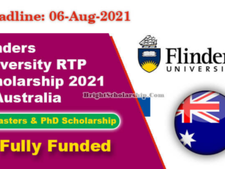 Study in Australia Flinders University RTP Fully Funded Scholarship 2021