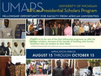 University of Michigan African Presidential Scholars Program 2021/2022 Fellowship for Faculty from African Universities (Fully Funded to the University of Michigan in Ann Arbor, Michigan, USA)