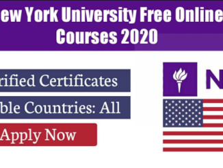 New York University Free Online Courses 2020 |Verified Certificates From USA University
