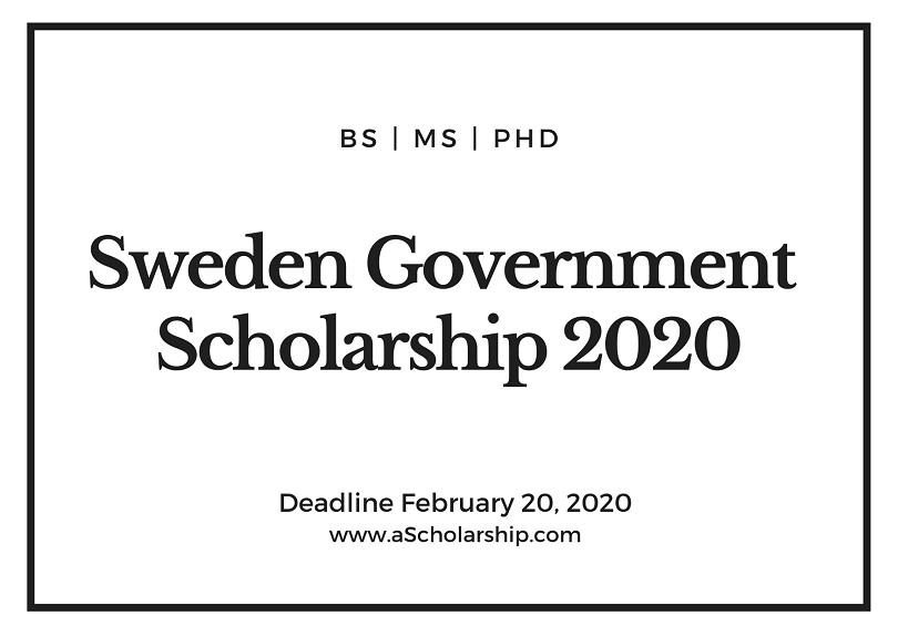 Sweden Government Scholarship 2021-2022 – Swedish ...