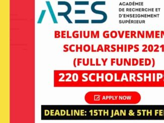 Belgium Government Scholarships 2021-22 (ARES) | Fully Funded