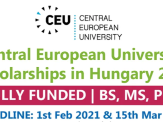 Study in Hungary CEU Scholarship 2021 | Central European University