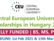 Study in Hungary CEU Scholarship 2021   Central European University