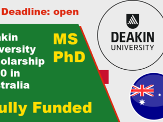 Study in Australia Deakin University Fully Funded Scholarship 2020
