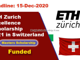 Study in Switzerland ETH Zurich Excellence Scholarship 2021