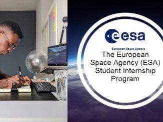 The European Space Agency (ESA) Student Internship Program 2021