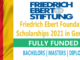 Study in German Fully Funded Friedrich Ebert Foundation Scholarships 2021