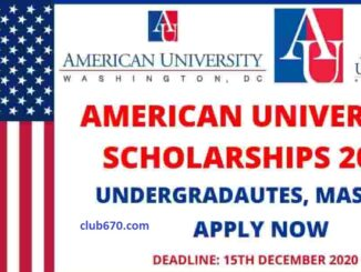 Study in USA Fully Funded Global leadership Scholarship 2021- For Undergraduate & Graduates