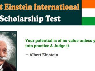 Study in German Albert Einstein Scholarship Academic year 2022