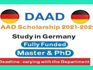 DAAD Scholarship 2021-2022 in Germany   MS & Ph.D Fully Funded