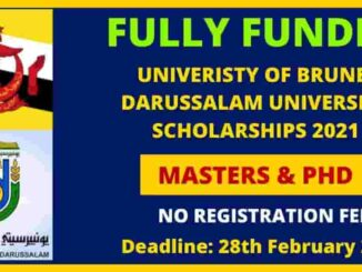 Brunei Darussalam Government Scholarship 2021 | Fully Funded