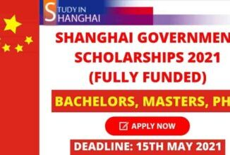 Shanghai Government Scholarships 2021 | Fully Funded