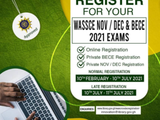 Register for WAEC Nov/Dec 2021 Exams for GH₵ 35.00