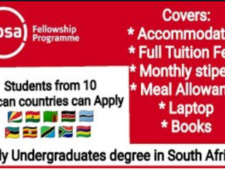 Absa Fellowship Programme 2021 for Undergraduates Studies in South Africa (Fully Funded)