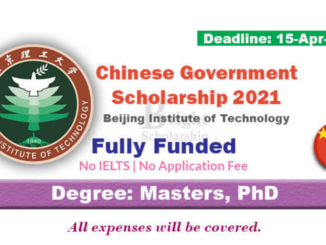 Study in China Beijing Institute of Technology Fully Funded Scholarship 2021