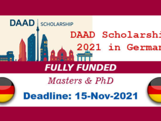 DAAD Fully Funded Scholarships 2021/2022 in Germany