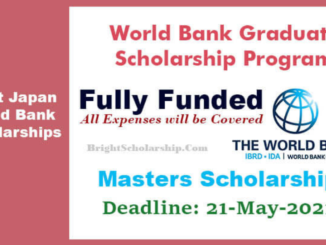 World Bank Fully Funded Graduate Scholarship Program 2021 /2022